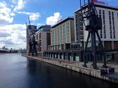 View of the Royal Victoria Dock from the deck of the Sunborn Yacht