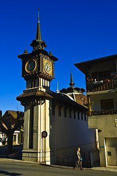 France, Haute Savoie, Le Chablais, Evian les Bains, Cachat fountain