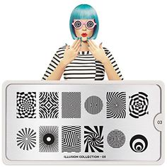 MoYouLondon Nail Art Image Stamping Plate Illusion Collection 03 Shipping within 24h US Stock >>> Visit the image link more details. (This is an affiliate link) #NailArtEquipment