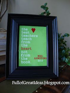 Full of Great Ideas: Teacher Gifts - Free printable quotes