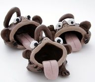 Big mouth monkey pinch pot clay project for kids
