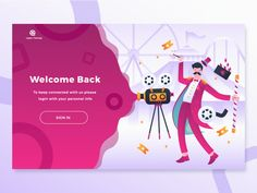 A list of elegant and exquisite login page examples and free responsive login form templates built with HTML and CSS for your next Project. A login page is of extreme importance to web and app… Web Design Examples, Web Design Trends, Web Design Inspiration, Design Ideas, Website Illustration, Bike Illustration, Login Page Design, App Design, Cv Web