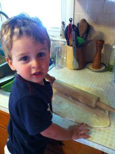june 2013 - Making pizza