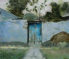 Piotr Kozlov — Door, oil on canvas Marc Chagall, Acrilic Paintings, Traditional Landscape, Country Farm, Modern Wall Art, Unique Art, Landscape Paintings, Surrealism, Watercolor Art