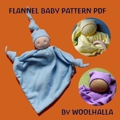 Get the pattern for this flannel baby by woolhalla at etsy! Click on the red etsy button below the picture to the left. She has a polar bear pattern and other stuffed animals to sell. Great site!