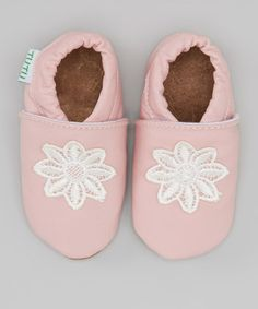 Another great find on #zulily! Pink Flower Leather Booties by Tutu AND Lulu #zulilyfinds