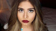 Matte eyes and Bold lips makeup tutorial ft Joanna Pina