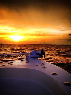 A beautiful sunset off a Scout Boat.   #boating #ocean #ScoutBoats