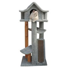 Mari 46 Cat Pagoda in Gray - my cat would dig this. also good for small spaces!