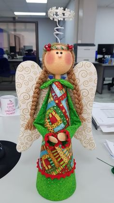 Christmas Time, Christmas Crafts, Merry Christmas, Christmas Decorations, Xmas, Christmas Ornaments, Holiday Decor, Pottery Angels, Handmade Angels