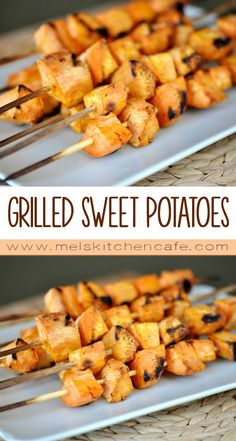 These sweet potato skewers are just the answer for a quick, weeknight, summer side dish