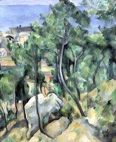 IMG_6316G Paul Cézanne. 1839-1906. Paris. Aix en Provence.  Vue sur la mer près de l'Estaque. Sea views near Estaque. 1898. Karlsruhe. Staatliche Kunsthalle.