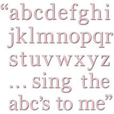WallPops Alphabet Set Decals, Pink