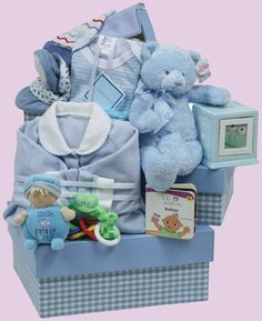 Baby's Triple Treat Boy - one of the sweetest baby gifts of the season! Available for different prices and genders! Nutcracker Sweet, Print Box, Baby Boy Gifts, Everything Baby, Baby Needs, Kids Online, Gift Baskets, Little Ones, Baby Car Seats