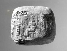 Cuneiform tablet impressed with cylinder seal: receipt of goats   Neo-Sumerian   Ur III   The Met