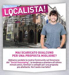 """#Localista! Mai Scaricato Qualcuno per una Proposta Migliore?  ..Confessate: mai praticato il """"Social Gazumping"""", ovvero scaricare #amici & co. per una #proposta allettante dell'ultimo minuto? Diteci la vostra!"""