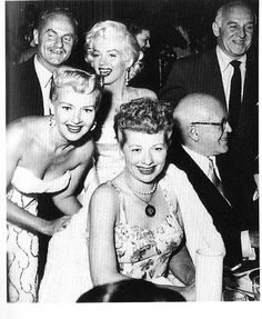 Clockwise from top left: Darryl Zanuck, Marilyn Monroe, Walter Winchell, Jimmy McHugh, Lucille Ball, and Betty Grable.