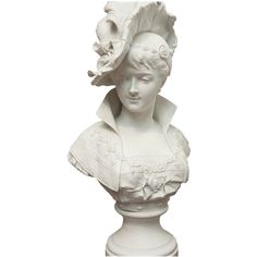 Bisque Bust of a Young Woman with Plumed Hat by Paul Duboy He entered the Ecole des Beaux-Arts in He exhibited frequently at the Academy from Decorative Objects, Decorative Accessories, Modern Sculpture, Young Women, Fashion Art, Sculptures, Mid Century, Miniatures, Statue