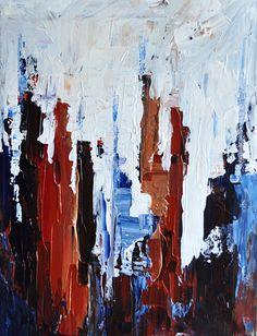 Original abstract painting  Impasto Cityscape door PrismaticArt, $100.00