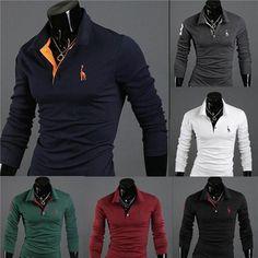 f3f665ba New 2019 Men's Premium Slim Fit Shirt. PoloshirtLong Sleeve PoloLong Sleeve  ShirtsPolo SweaterMen SweaterCasual TopsCasual T ...
