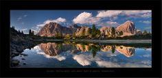 Natural mirror by Daniel Řeřicha, via Photos from autumn Dolomites (Panorama stitched from 5 photos). One Day Trip, Day Trips, Natural Mirrors, Mountain Photos, True Nature, Travel Photographer, Amazing Photography, Beautiful Places, Scenery
