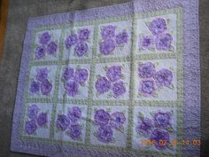 French Rose Bud quilt made for new grand daughter.  Love this pattern--  hope this quilt is the first of many!