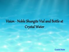 Noble Shungite is found only in Russia. This rare stone contains fullerenes, which is an antioxidant. It has been clinically tested and found to be the best protection against EMF. Discover water in a completely new way, let your visions thrive! Share the vision of Dr. Masaru Emoto and VitaJuwel to make gem water an enlightening experience to everyone. Visit Crystal Water to know more about Vision Vial and Bottle.