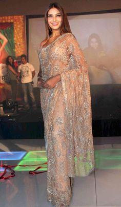 Bipasha Basu- Indian actress, sleek and statuesque in her saree.