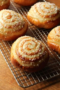 Coconut Custard Buns | Korena in the Kitchen. Follow recommendation to divide into 8 buns and 1.5x filling.