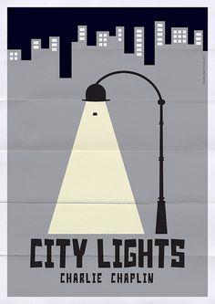 City Lights (1931) ~ Minimal Movie Poster by Franco Mathson #amusementphile
