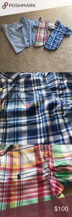 Lot of 4 Polo Ralph Lauren SS button ups sz 4/4T Lot of 4 Polo Ralph Lauren SS button ups sz 4/4T Polo by Ralph Lauren Shirts & Tops Button Down Shirts