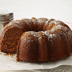 Pumpkin Gingerbread Recipe - Make this moist gingerbread Bundt cake for holiday tea, dessert or snack time. Fall Desserts, Just Desserts, Delicious Desserts, Pumpkin Bundt Cake, Pumpkin Dessert, Pumpkin Recipes, Cake Recipes, Dessert Recipes, Gingerbread Cake