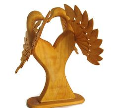 Abstract Art Love Birds Carving Loving Wood Heart @MyFanbirds http://etsy.me/1PLeL1Z  #etsymntt #etsyspeicalT #integrityTT