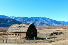 Abandoned country barn in Black Sage Bench area of British Columbia's Okanagan Valley