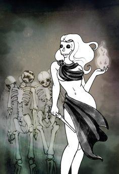 Ghost Witch by jiko29.deviantart.com on @DeviantArt