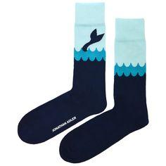 Modern Men's Socks | Men's Whale Tale Socks | Jonathan Adler