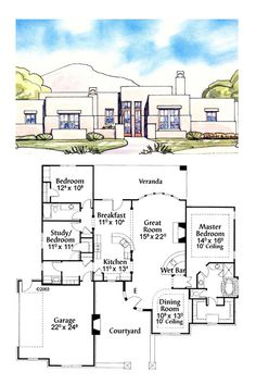 1000 images about house plans on pinterest house plans for Santa fe home design