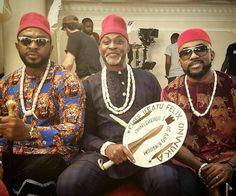 #AsoEbiBella x 3 gentlemen on the set of #TheWeddingPartyMovie Part 2 @a_yinna @mofedamijo @bankywellington #ebfablook #Emmanuelsblog #fashion #styleblogger #fashionblogger