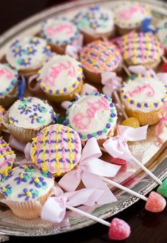 Baby Shower~Rattle cupcakes