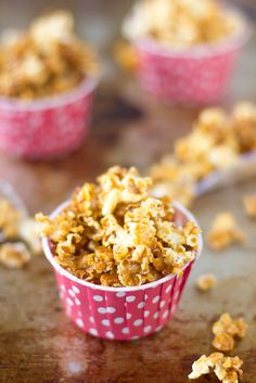 Caramel Corn is an easy sweet and crunchy fall snack that tastes much better than the storebought version and with no corn syrup!