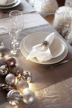déco élégante de table Noël