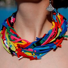 Very cool pot holder looper loop necklace!