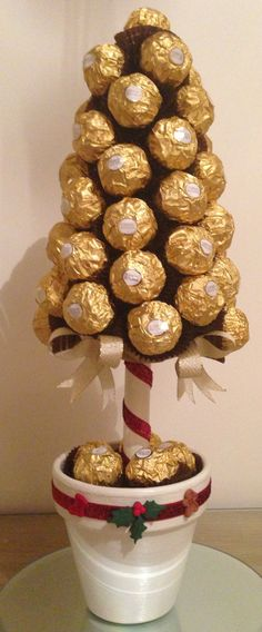 Christmas Sweetie Tree filled with luxury Ferrero Rocher chocolates xx