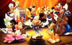 Disney Orchestra Mickey Mouse Pluto And Donald Duck Characters Desktop Hd Wallpaper Disney Mickey Mouse, Mickey Mouse Y Amigos, Mickey Mouse And Friends, Mickey Mouse Background, Mickey Mouse Wallpaper, Disney Wallpaper, Hd Wallpaper, Disney Kunst, Arte Disney
