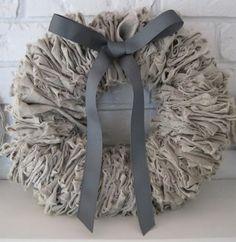 linen wreath