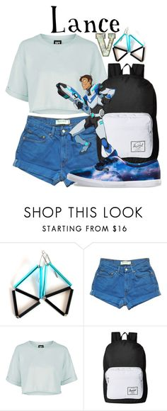 """Lance McClain (Voltron: Legendary Defender)"" by fabfandoms ❤ liked on Polyvore featuring Levi's, Topshop, Herschel Supply Co. and Vans"