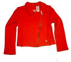NWT GUESS Girls Zipper Lightweight Fleece Motorcycle Sweater Jacket  #RalphLauren #jacket #DressyEveryday