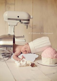 This little guy is getting ahead on his baby baking! Photo by: Deanna McCasland