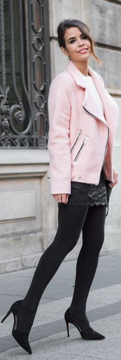 #Pink #Biker #Jacket by Collage Vintage