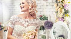 wedding, wedding, the bride, bouquet, joy